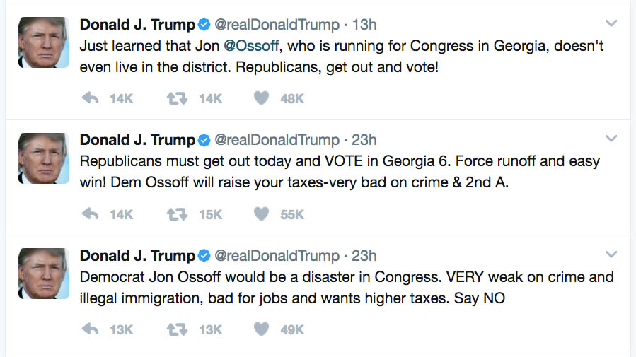 Trump Tweets GA6