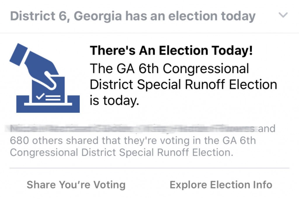 Election Today Thanks Facebook