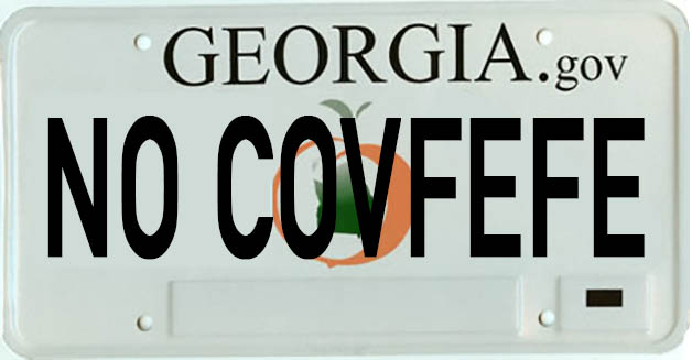 NO COVFEFE CAR TAG 2