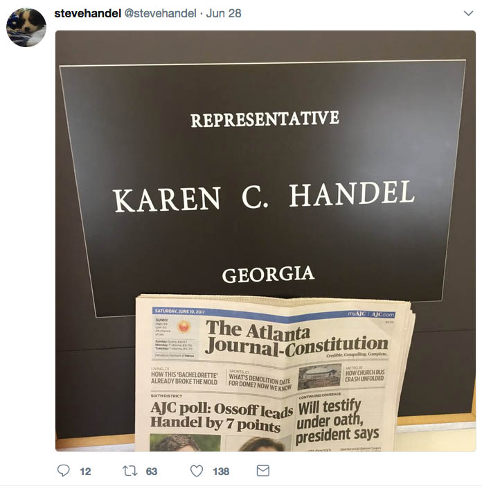 Steve Handel headline