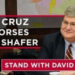 Senator Ted Cruz endorses David Shafer for Lt. Governor