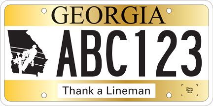 Lineman Car Tag