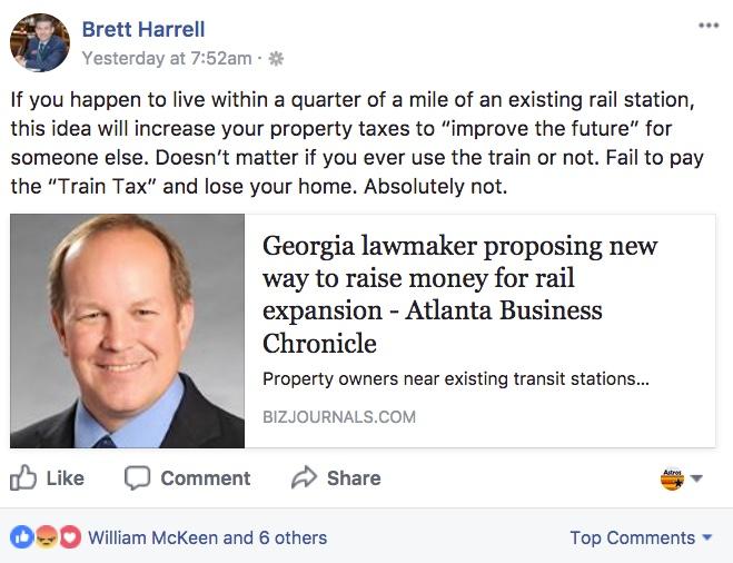 Brett Harrell Train Tax