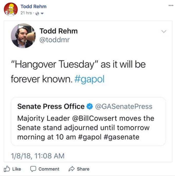 Todd Rehm Hangover Tuesday