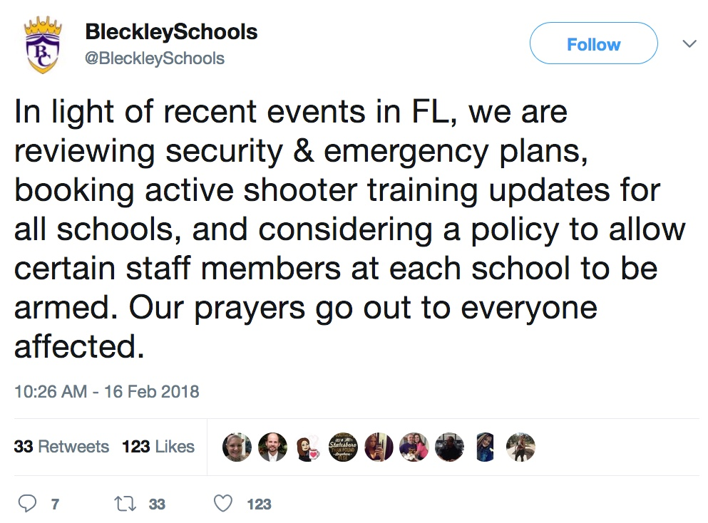 Bleckley Tweet