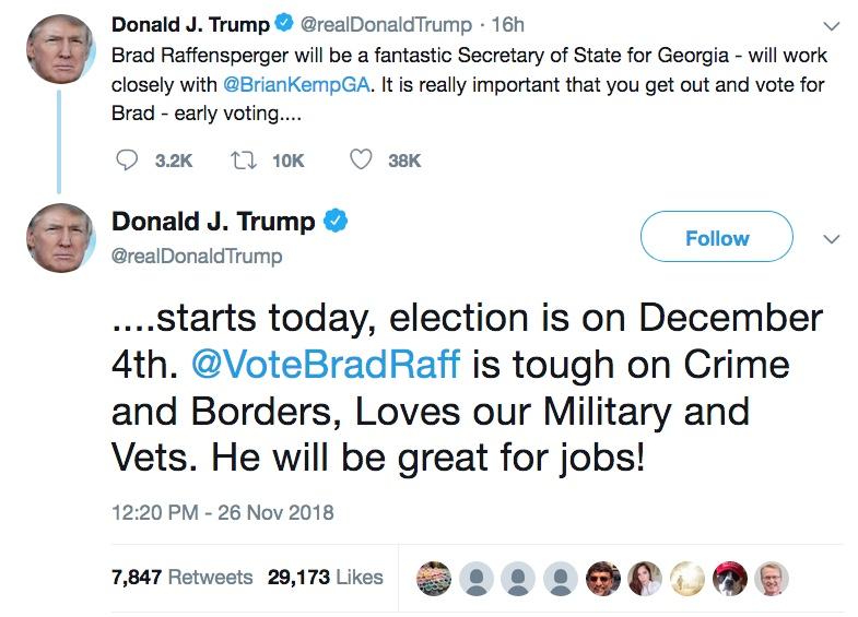 Trump Tweet BradRaff