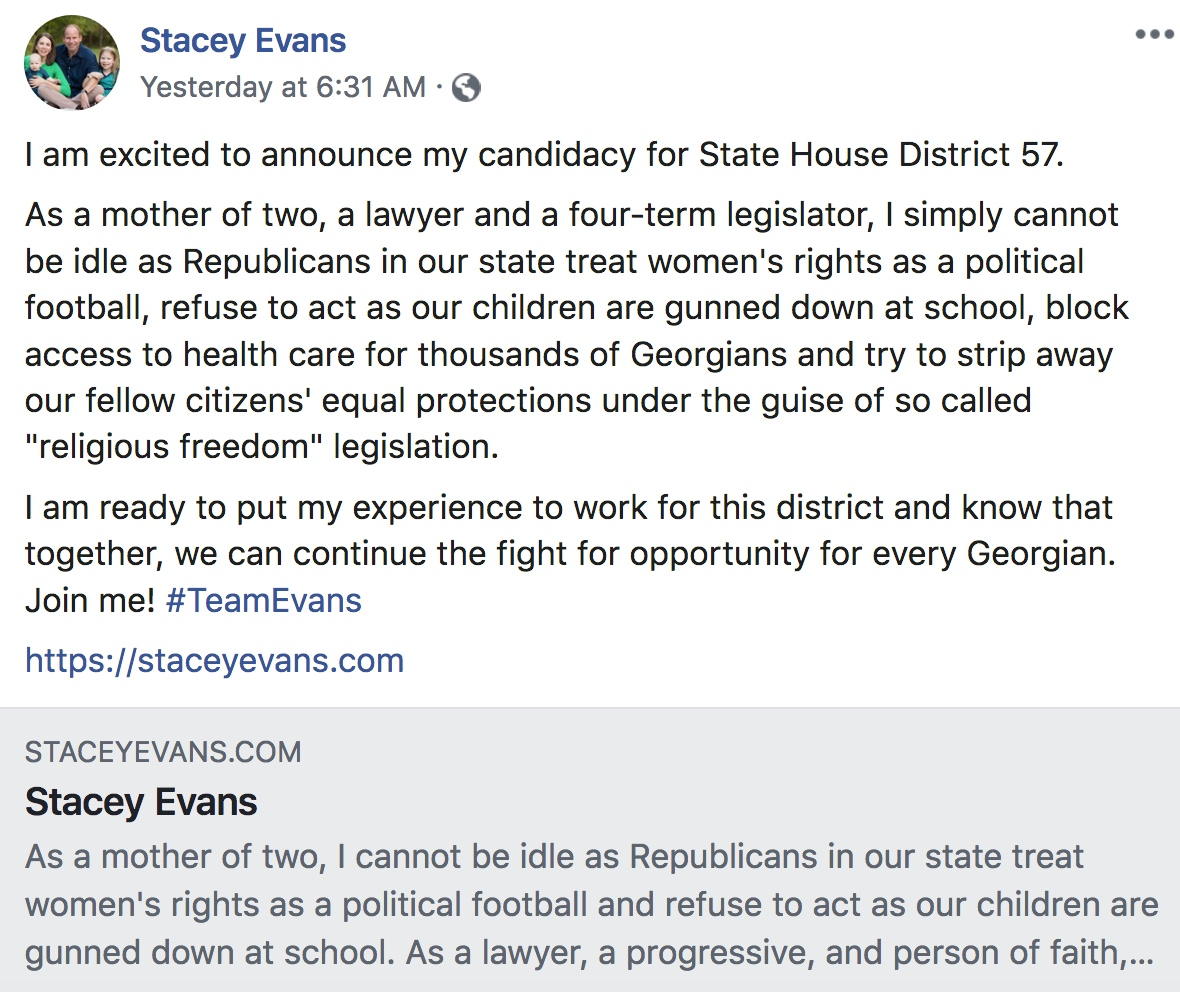 Stacey Evans State House