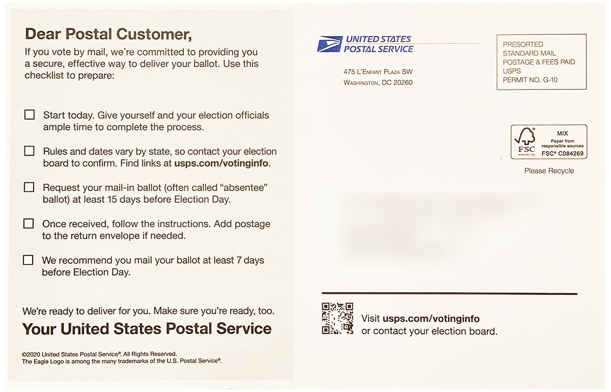 USPS Elections Mailer Front2