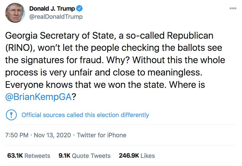 Trump Brad Raff Nov 13