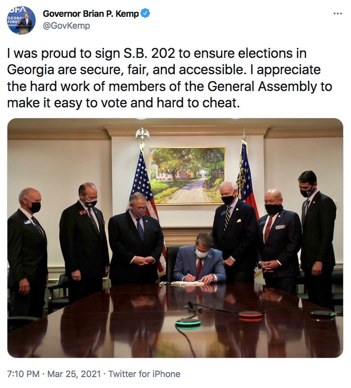 Gov Kemp Tweet Sign SB202