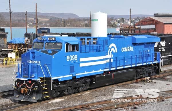 Norfolk Southern's Conrail heritage locomotive