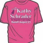 Kathy Schrader pink t-shirts now available on her website