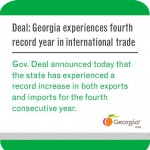 Gov. Nathan Deal: Georgia Experiences Fourth Record Year In International Trade