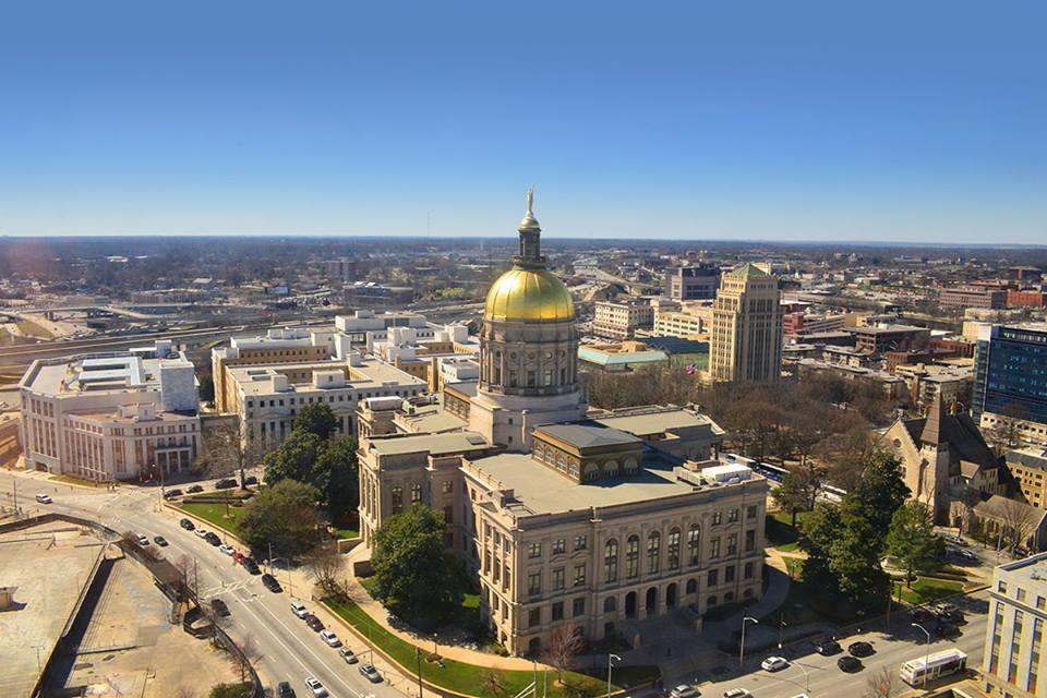 Georgia Capitol Aerial 02272014