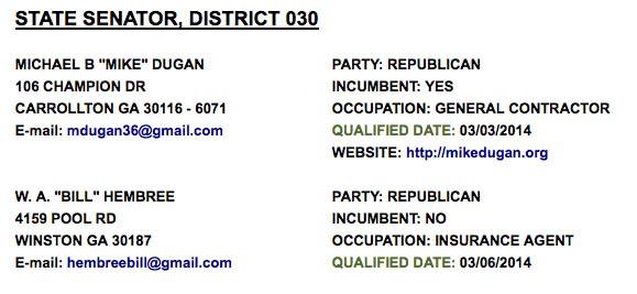 Senate District 30 Qualifying