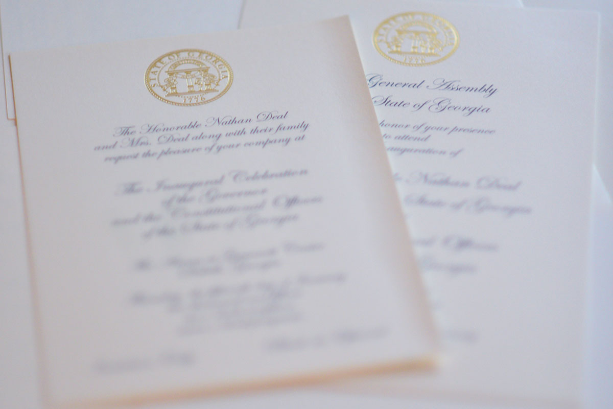 Inaugural Invitations