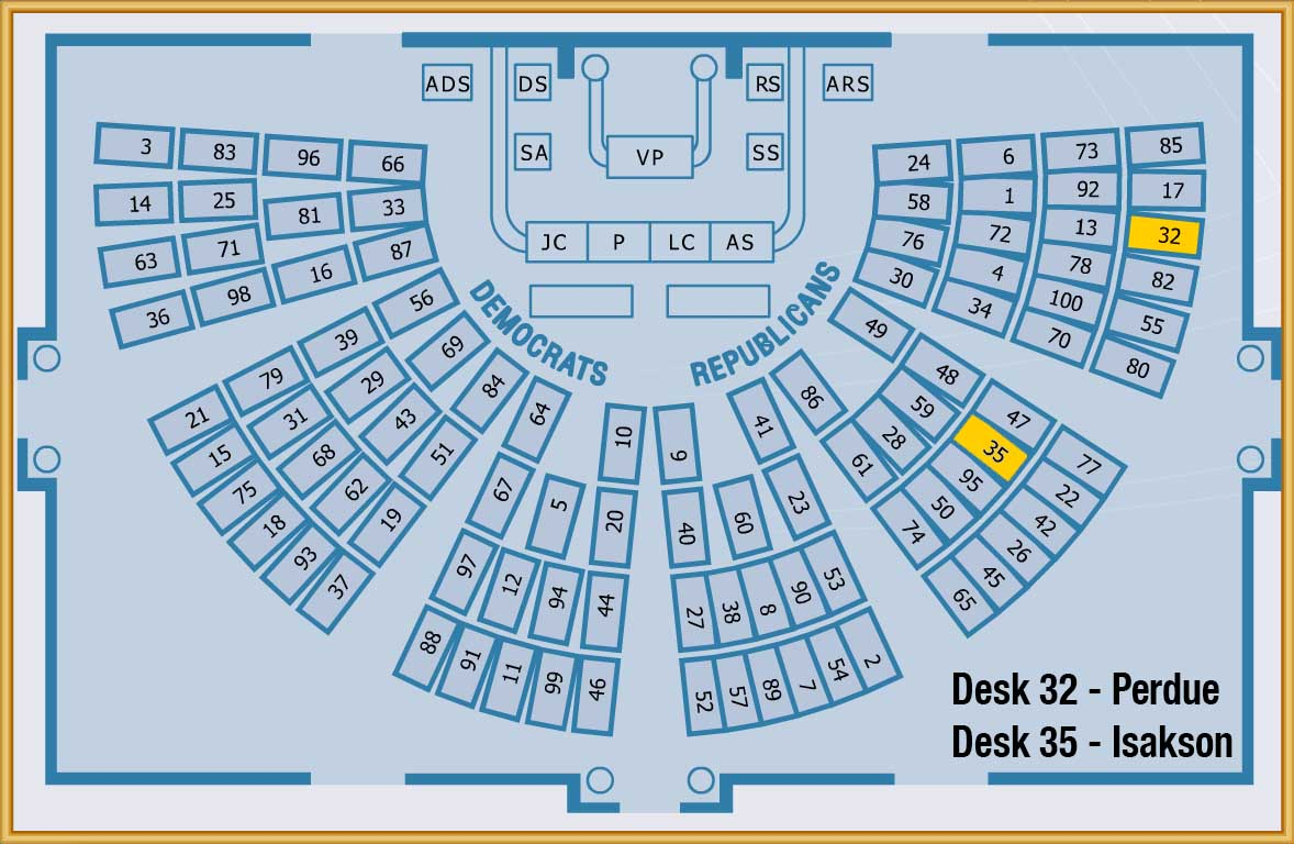 Senate Chamber Map Perdue Isakson