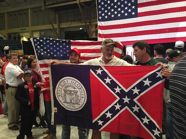 Georgia Flag Trump Rally