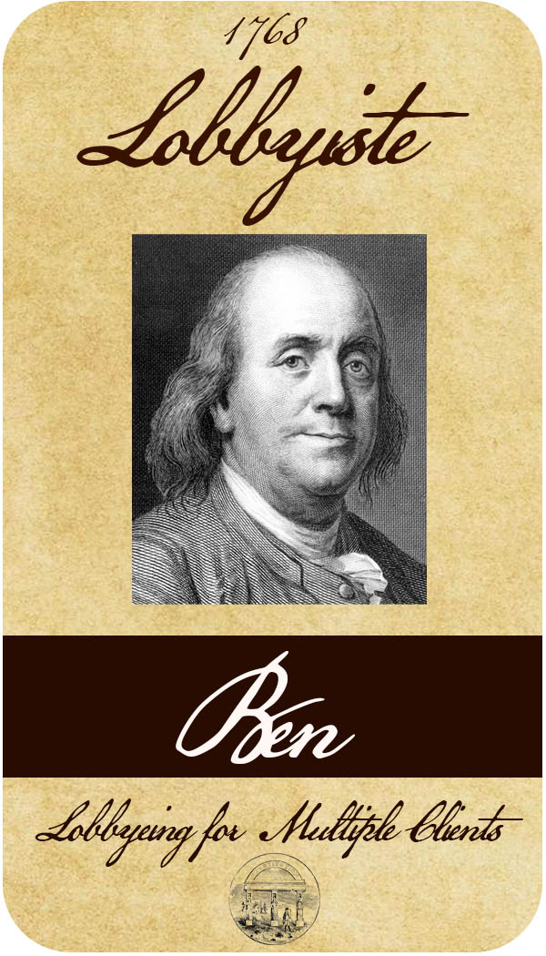 Benjamin Franklin Lobbyist Card2